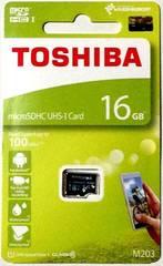 東芝 16GB microSDHC(マイクロSDHCカード16ギガ) 読込Max100MB/秒