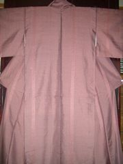 紅檜色しっとり紬の 袷のお着物
