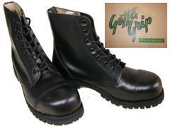 ゲッタグリップおでこ靴7ホール ブーツ新品7507BLスチール入uk4
