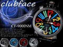 腕時計 チェック柄 フレーム メンズ ウオッチ CF-9000NM