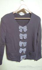ピンクハウス カネコイサオ ジャケット  薄紫に水玉のリボン