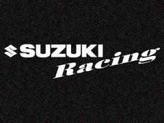 「SUZUKI Racing」カッティングステッカー Sサイズ 特殊カラー