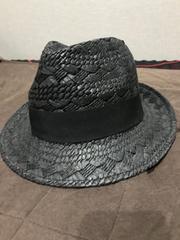 ルスーク麦わら帽子!新品同様黒色
