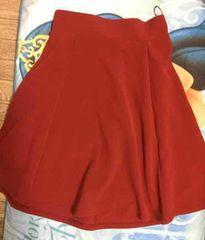 GU 赤 フレアスカート S