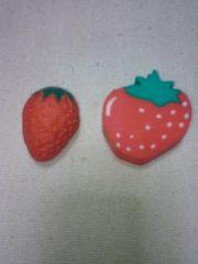 イチゴ果物消しゴム2個セットコレクター新品いちご苺