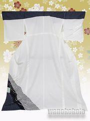 【和の志】洗える着物◇単衣・付下げ◇白系・格子・籠目◇219