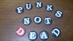 新品同様「PUNKS NOT DEAD」缶バッチ12個セット/PIZZAハイスタ