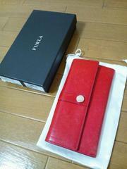 ■FURLA フルラ 長財布 レッド 箱・保存袋付■
