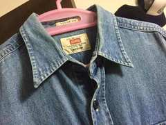 EDWIN エドウィン denim shirt デニムシャツ シャンブレー