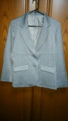 【大きいサイズ】とっても素敵なジャケット♪グレー新品未使用