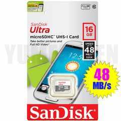 送料無料 SANDISK 16GB 高速48MB/s クラス10 microSDHC マイクロSDHC