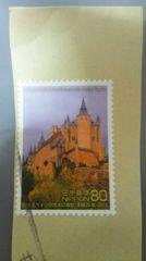 【使用済み】記念切手 日本スペイン交流400周年記念 2枚セット 1スタ