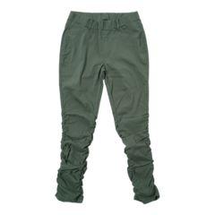 新品■大きいサイズ■3Lシャーリングスキニーパンツ■グリーン