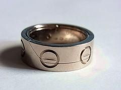 限定品カルティエk18アストロ ラブ リング指輪9号49ペンダント金