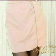 美品ミシェルマカロン ラメパイピンクタイトスカート