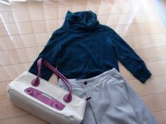 jocomomolaカシミアセーター+可愛いバッグ