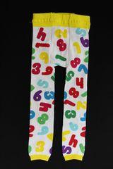 カラフル可愛い数字柄ベビー用スパッツ/レギンス80-90ナンバー