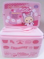 リラックマーケットBIGランチBOX(持ち手・スプーン&フォーク付)コリラックマ(ピンク)