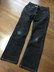 【プロポーション】サイズ1シンプルブラックストレートジーンズ