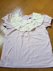 ☆美品☆マザーウェイズ☆薄いピンク半袖カットソーTシャツ☆110
