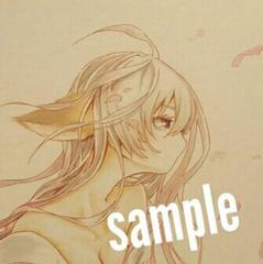◆自作イラスト◆オリジナル キツネ×桜 女の子 春