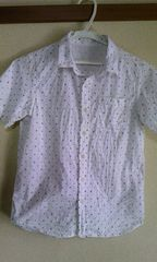 ジーユー150cm白半袖シャツ