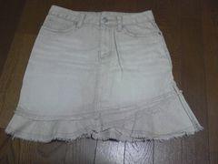 スカート/ひざ丈/薄い茶/M
