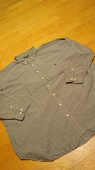 RALPHーLAUREN グレンチェック 長袖シャツ サイズ3XL 19ー34 /35 USED