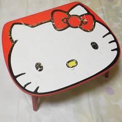 レアHello kitty-ハローキティ92年【限定】顔型テーブル中古品 キズ有