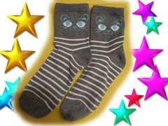 ★ルナ★にゃんにゃん♪かわいいにゃんこ♪グレー靴下♪★