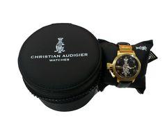 新品送込ChristianAudigierクリスチャンオードジェー★リストウォッチ腕時計ブラック