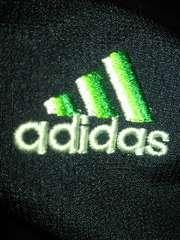 adidas アディダス 薄手 ジャケット ジャンパー ネイビー グリーン ライン Lサイズ