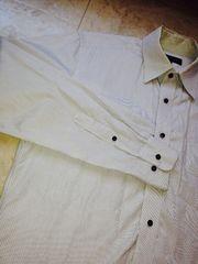 UNIQLOワイシャツグレーストライプLサイズ