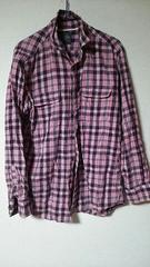 UNIQLOピンクシャツ★カジュアルシャツ☆*記載sizeL