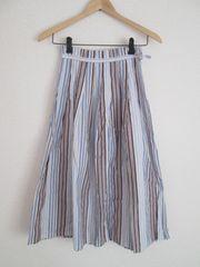 CHIC et PAS CHER/ストライプAラインロングスカート/ブルー/1