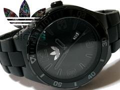 美品【超大型】1スタ★アディダス Adidas ALL BK メンズ腕時計