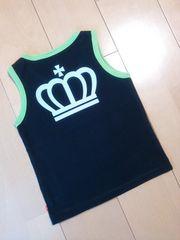 中古タンクトップ黒×黄緑100ベビードールBABYDOLLベビド
