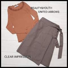 〇UNITED ARROWS/CLEAR IMPRESSION〇2点セット カットソー×スカート
