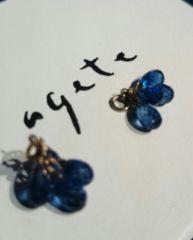 ageteピアスチャーム。カイヤナイト。K10。ロイヤルブルー。