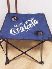 コカコーラビーチテーブル(ドリンクホルダー*専用収納キャリーバッグ付)ネイビー