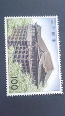 清水寺本堂100円切手1枚新品未使用品