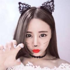 新品【7424】黒★猫耳レースの可愛いカチューシャ