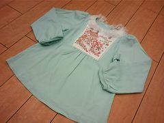 半額以下激安処分新品ラストメゾピアノ専門店限定刺繍チュニックTシャツ