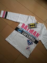 新品バットマン袖2ラインロンT100白ベビドBABYDOOL ベビド