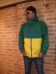 【派手色】ノースフェイス「コンパクトジャケット」黄色×緑×青L♪