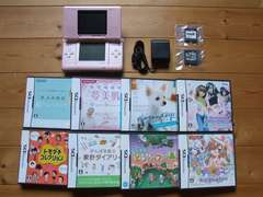 Nintendo DS 初代 ピンク ソフト10本 充電器付 Used