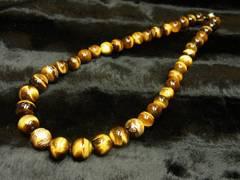 高級オラオラ数珠 金彫皇帝龍タイガーアイ×タイガーアイネックレス 人気