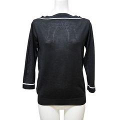 新品プラダPRADAウール×シルク ボートネックセーター 黒