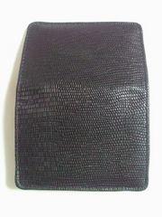 ヘビ柄風 名刺入れ カードケース CARD ブラック 合成皮革