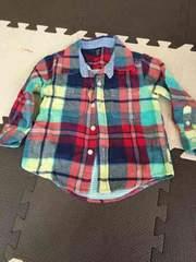 90 babyGAP チェックシャツ
